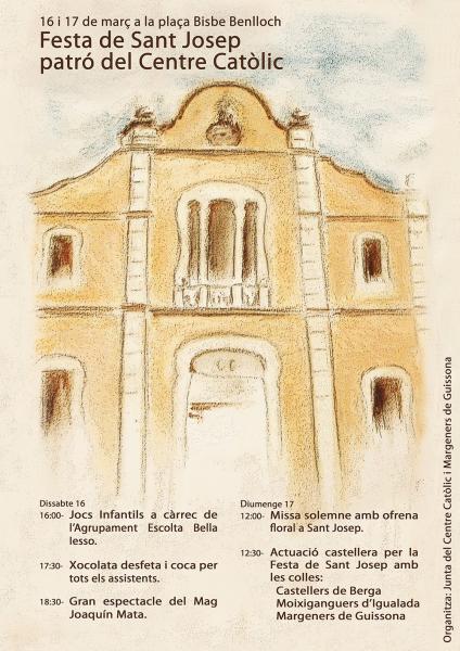 cartell Festa de Sant Josep - Guissona