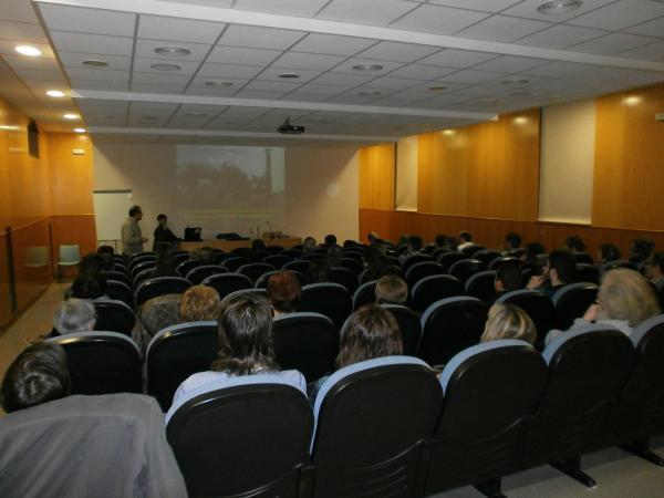 Jos Carbonell en la seva intervenció a Cervera - Cervera
