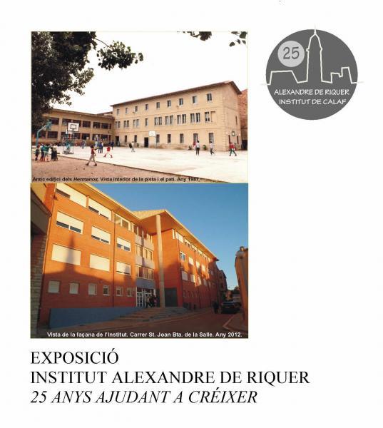 Cartell de l'exposició dels 25 anys de l'IES de Calaf  - Calaf