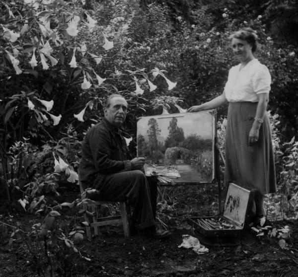 Josep Nogué i la seva dona -