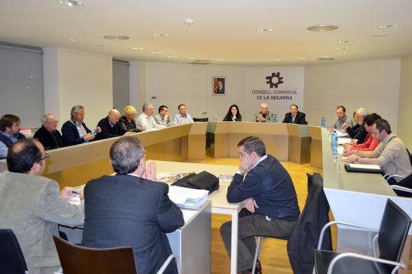 20.03.2013 El plenari declara la comarca de la Segarra lliure de fracking  Cervera -  CC Segarra
