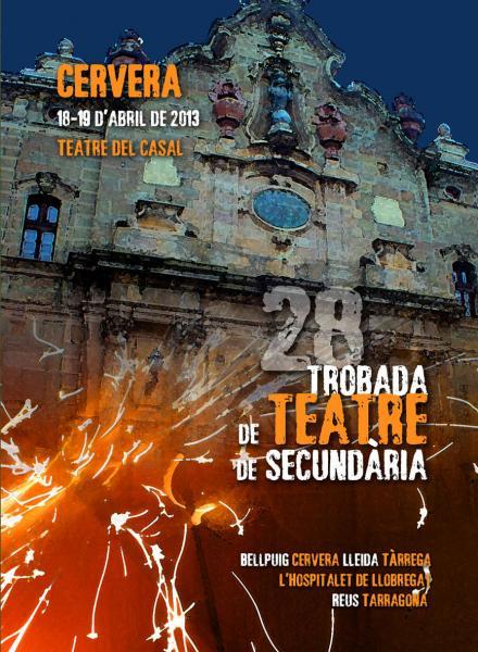 cartell 28a Trobada de Teatre de Secundària