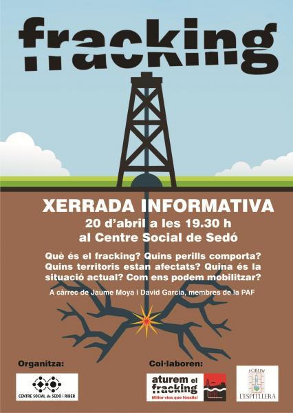 cartell xerrada ATUREM EL FRACKING - Sedó