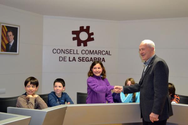 10.04.2013 Els alumnes van simular unes eleccions infantils  Cervera -  CC Segarra