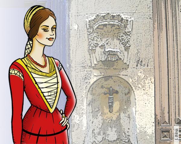 Aldonza Roig d'Ivorra, il·lustració -