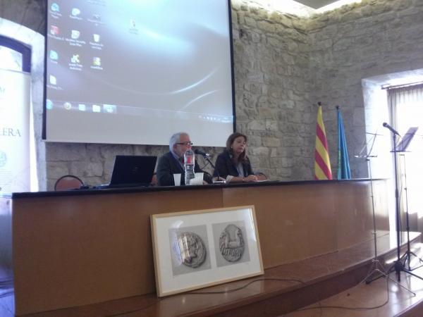 04.05.2013 Benvinguda institucional -Sílvia Pomés, Alcaldessa de Santa Coloma,  i  Josep M. Carreras, Presidència (ACBS)  Santa Coloma de Queralt -  Ramon Sunyer