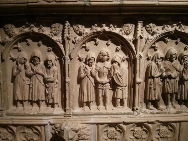 06.05.2013 Detall de la tomba del comte  Santa Coloma de Queralt -  Ramon Sunyer