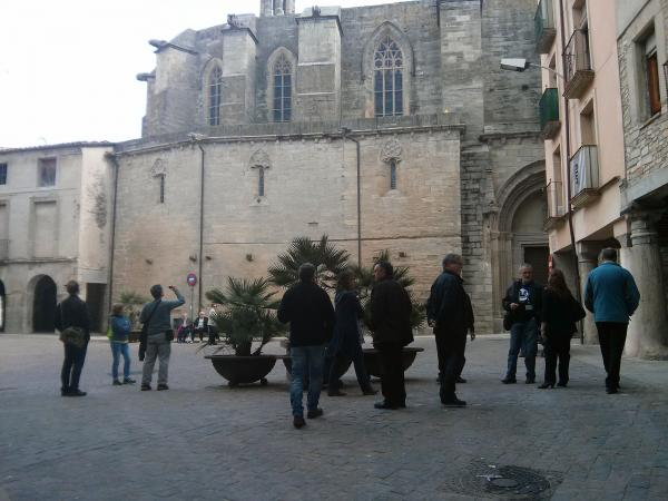 06.05.2013 Exterior de l'església de santa Maria  Santa Coloma de Queralt -  Ramon Sunyer
