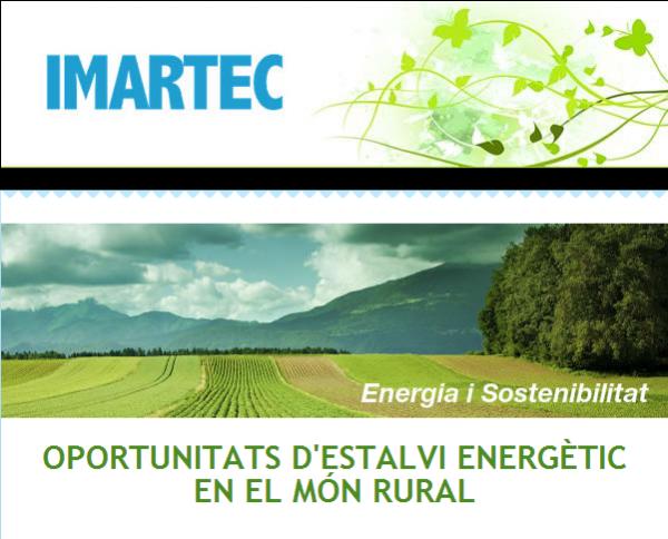 Oportunitats d'estalvi energètic en el món rural - Cervera