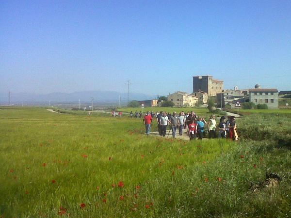 05.05.2013 Una vuitantena de participants a la Caminada dels Plans del Sió  Plans del Sió -