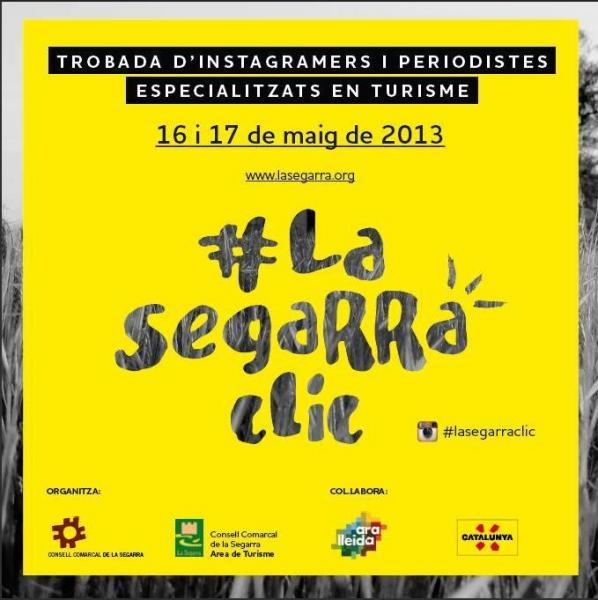 Una quinzena d'instagramers visitaran la Segarra i participaran en el primer concurs #lasegarraclic