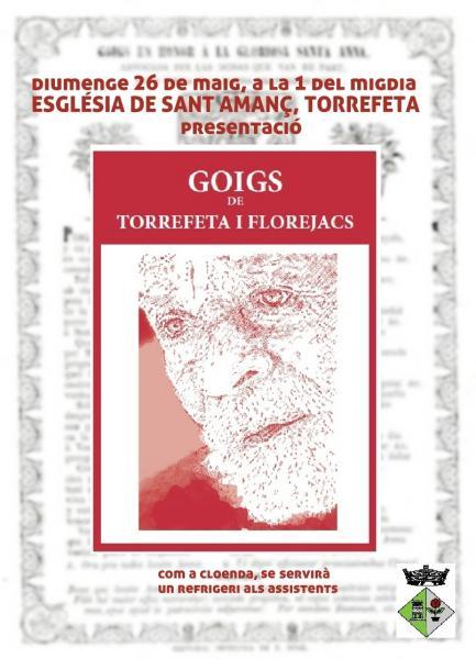 cartell presentació recull de GOIGS de Torrefeta i Florejacs