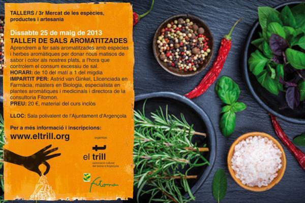 Cartell Taller de sals aromatitzades