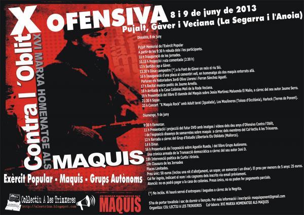 cartell XVI Marxa homenatge als maquis
