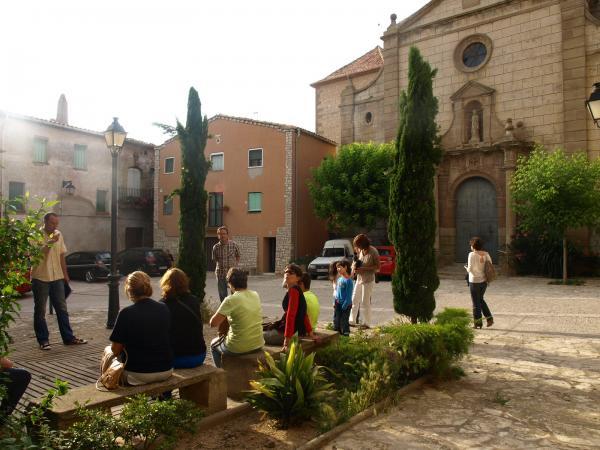 un instant de l'activitat, a la Plaça de l'Església