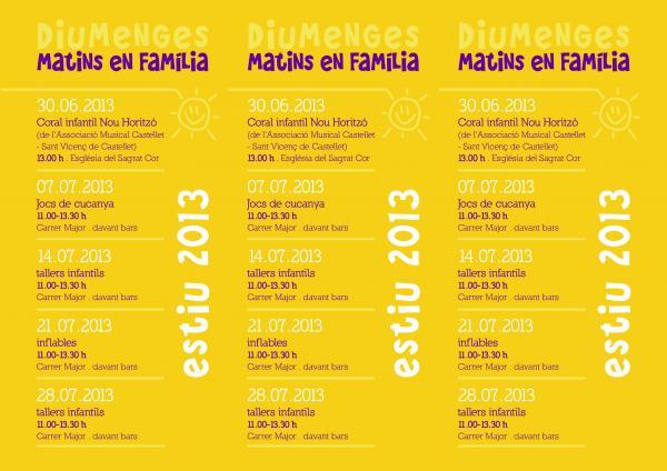 cartell Activitats estiu 2013 a Sant Guim
