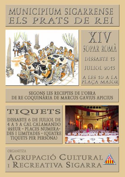 cartell 14è Sopar Romà