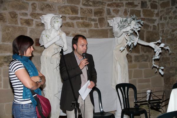 28.06.2013 acte oficial d'inauguració  del Mercat Romà presidit per l'Alcalde, Xavier Casoliva i la regidora de turisme, l'Anna Santacreu  Guissona -  Premsa Guissona
