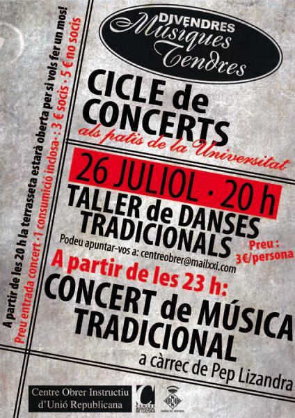 cartell Músiques Tendres 2013, taller de danses