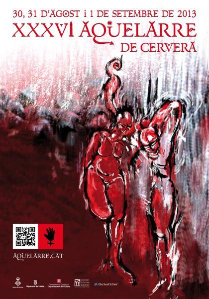 cartell XXXVI Aquelarre de Cervera, reserva d'entrades de la Casa d'Estiu del Mascle Cabró -