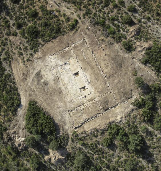 Imatge aèria del castrum romà de Puig Castellar