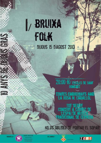 cartell 1er BruixaFolk - Cervera