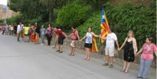 Segarra per la Independència mobilitza més de mil persones per la Via Catalana