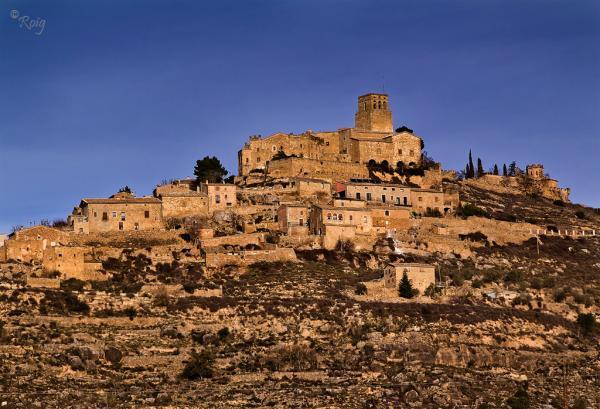 12.01.2012 Vista del poble dalt la muntanya  Ribelles -  Xavi Roig