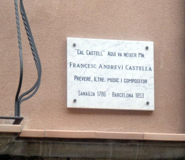 Una placa recorda la casa on va néixer - Sanaüja
