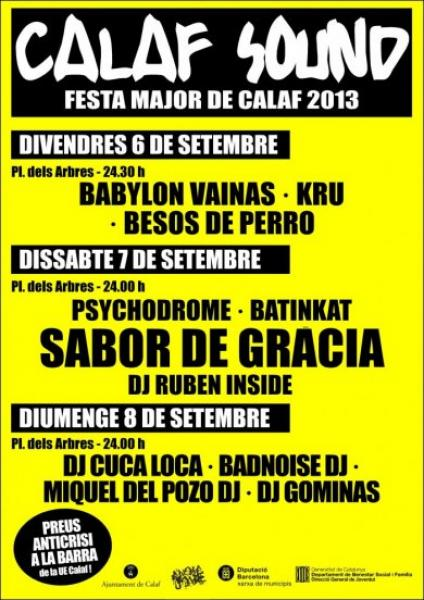 cartell Calaf Sound 2013 - Calaf