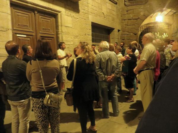 29.08.2013 David Castellana explicant la visita guiada  Guissona -  Premsa Guissona