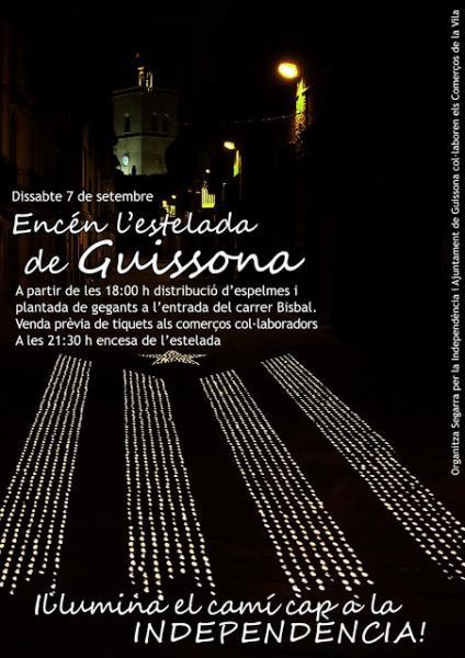 cartell de l'encesa de l'estelada de foc  - Guissona
