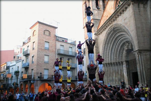 31.08.2013 Actuació de les colles castelleres, Solsona, Lleida i Margeners de Guissona  Agramunt -  Margeners