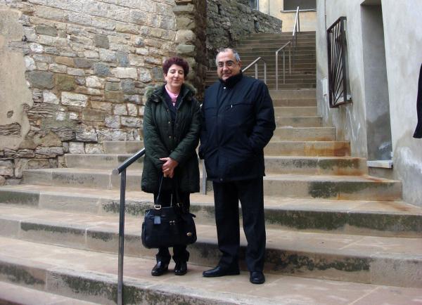 Ma. Antònia Trullàs, alcaldessa de Calaf, i l'exconseller Nadal - Calaf