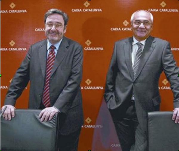 l'expresident de catalunya caixa narcís serra i l'exdirector general adolf todó