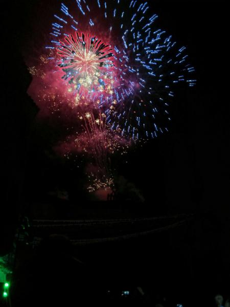 08.09.2013 El castell de focs és el més lluït de la vall del Llobregós  Sanaüja -  Ramon Sunyer