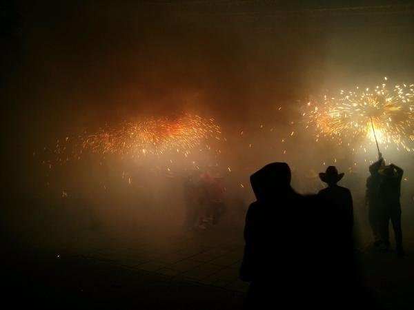 08.09.2013 Correfocs a la plaça  Sanaüja -  Ramon Sunyer