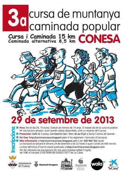 cartell 3a cursa / caminada de Muntanya de Conesa