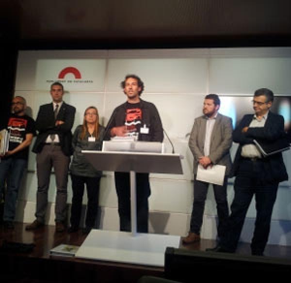 intervenció de la PAF el passat més de maig en roda de premsa al Parlament de Catalunya - Barcelona