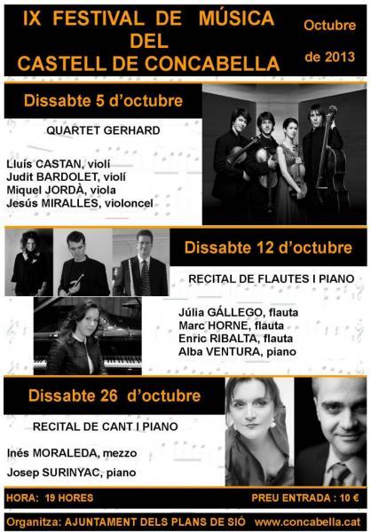 cartell 9è Festival de Música, Castell de Concabella