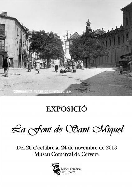 cartell Exposició La font de Sant Miquel
