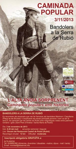 Cartell Bandolers a la Serra de Rubió