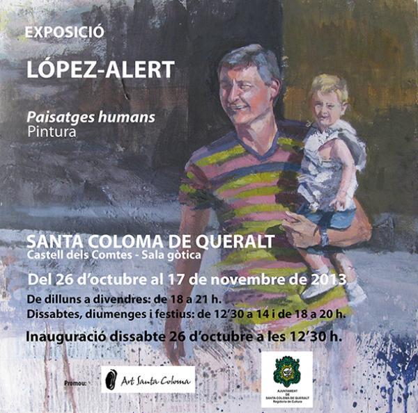 Cartell exposició pintura Jordi López-Alert