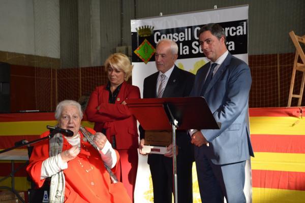 26.10.2013 L'agent literària Carme Balcells, de Sant Fe (Les Oluges),  premiada per la per la trajectòria vital  Torà -  CC Segarra