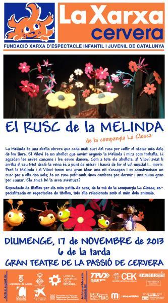 cartell La Xarxa - teatre infantil - Cervera