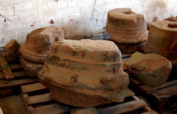 fragments de columna d'època republicana romana (s. I aC) - Els Prats de Rei