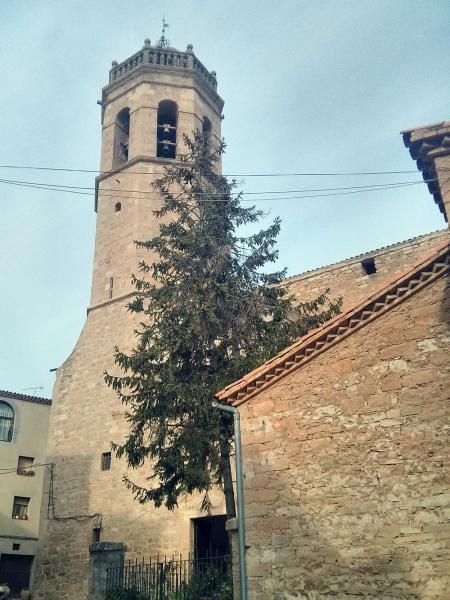 02.11.2013 Vista de l'esglèsia  Els Prats de Rei -  Ramon Sunyer