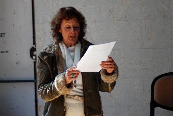 14.11.2013 La historiadora cerverina M.T.Salat llegeix el manifest  Els Prats de Rei -  Ramon Sunyer