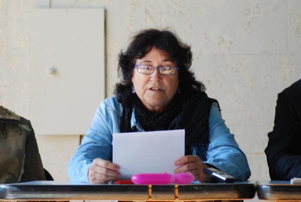 14.11.2013 Montse Rumbau, ACBS, llegint el manifest  Els Prats de Rei -  Ramon Sunyer