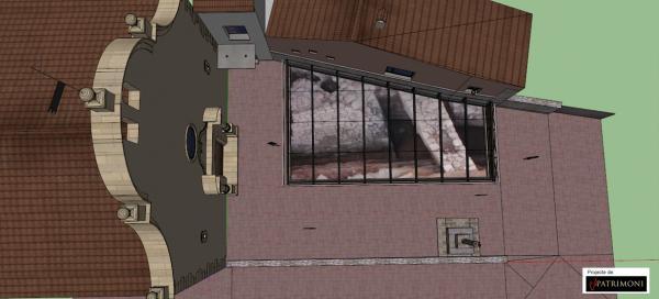 14.11.2013 recreació del projecte proposat per cobrir el jaciment  Els Prats de Rei -  CATpatrimoni